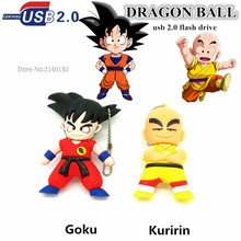 cute kuririn/Goku pen drive 4GB/8GB/16GB DRAGON BALL usb flash drive 32GB USB 2.0 pendrive memory stick U disk 100% Original