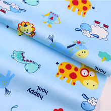 2016The New.16010517,50cm* 150 cm animal cartoon series cotton fabric, Making cushions cushion, children clothing, bedding.(China)