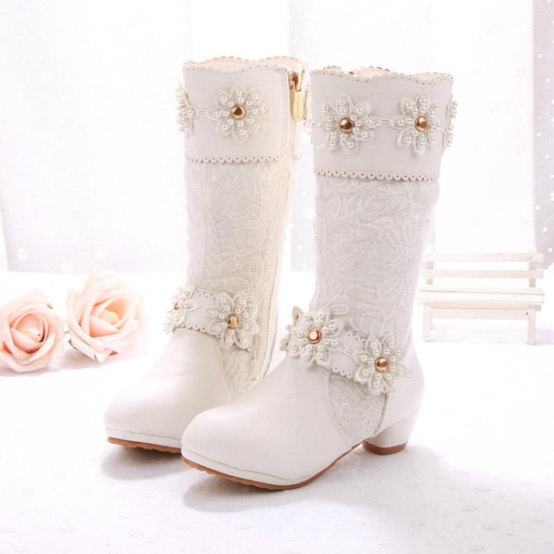 2017 latest winter children s low-heeled princess boots Girls Martin boots new cotton boots<br><br>Aliexpress