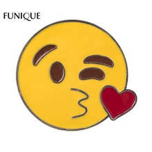 2017 New FUNIQUE emoji Icons Brooches For Women Cartoon Facial expression Brooches For Student Buys Girls Clothes Accessories