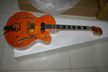 New Arrival Orange GRETSCH BRIAN SETZER Jazz Style Electric Guitar Bigsby Tremolo Gold Hardware;Real Gretsch Knobs;EDDIE COCHRAN(China)