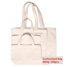 Customized Shopping Canvas Tote Bag Reusable Cotton Eco Bags Grocery Plain cotton bag for painting