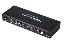 HDMI to Component YPbPR & VGA Video Converter Adapter HDMI to VGA/Ypbpr+R/L/SPDIF Converter 1080p Video Audio RCA L/R 1080P(China)