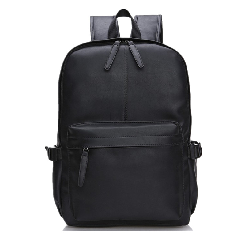 Y50 Men Women PU Leather Vintage Backpack Fashion Leisure Male School Black Day Brown Rucksack Casual Backpack<br><br>Aliexpress