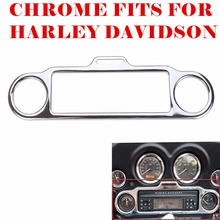 Triclicks Chrome Stereo Accent Trim Ring Cover Motorcycle Stereo Accent Trim Ring For Harley Electra Street Road Glide 1986-up(China)