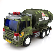 BOHS Military Truck with Commander & Oil Tanker Inertial Toy Car Large Toys(China)