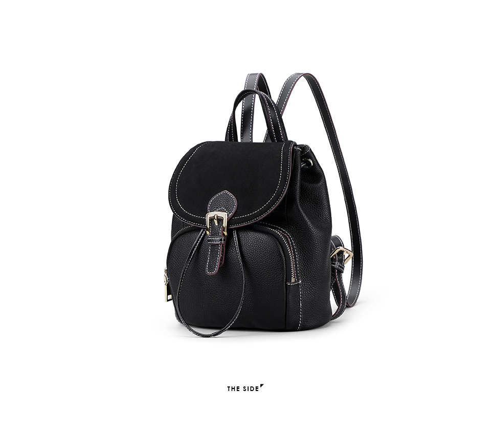 a1f85ecf0876 EIMORE 100% Genuine Leather Backpack Women Bag Luxury Designer ...