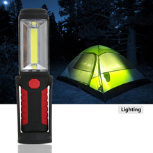 Outdoor Multifunctional Hands-free COB LED Light Flashlight for Camping Emergency Kit with Magnetic Retractable Base
