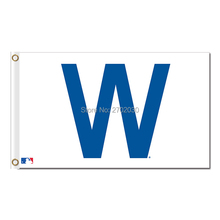 Chicago Cubs Flag 3ft X 5ft Polyester Chicago Cubs Circle Logo Flag 2016 World Series Champions Indoor Outdoor Banner(China)