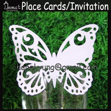 300pcs Laser Butterfly Name Place Card Cup Paper Card Table Mark Wine Glass Wedding Favors Party Decoration Wedding Gift Favor