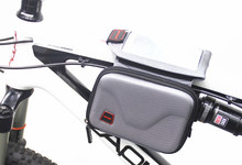 Waterproof Outdoor Cycling Mountain Bike Giant Merida Bicycle Bag Frame Front Tube Bag Panniers Touchscreen Phone Case(China)