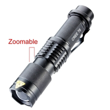 3000 Lumen Cree XM-L T6 LED Portable Zoomable Flashlight Torch Lamp 5 Modes tactical Flashlight For 18650 hot