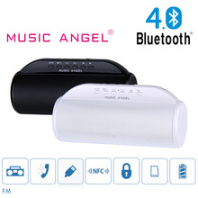 Powerful Bass Radio Bluetooth Speake FM Computer Mobiles Wireless Hifi Stereo Speaker FM Radio/TF/AUX Music Angel Soundbox