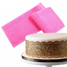 Hot Silicone Flower Lace Impression Mold Cake Decor Bake Emboss Mat Mould Craft(China)