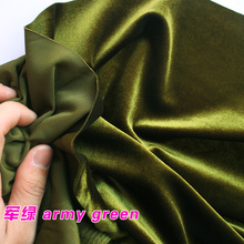 Army Green Silk Velvet Fabric  Velour Fabric  Pleuche Fabric  Clothing Fabric  Evening Wear  Sports wear  Sold By The Yard