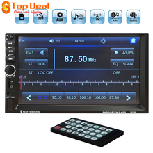 7inch Touch Screen Car Radio 2din FM Bluetooth MP3 MP4 MP5 Video Stereo Player Remote Control 12V Support USB / TF / AUX / FM