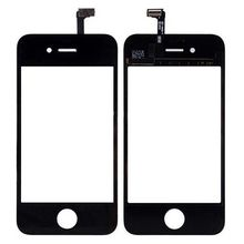 touch screen Replacement Front Glass Lens+Touch Screen Digitizer For iPhone 4 4S Glass Panel Sensor,Tracking Number screen(China)