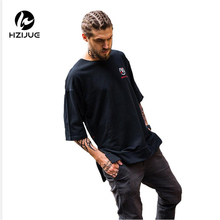 HZIJUE 2017 brand new clothes mens hip hop Original design loose pure cotton male t-shirts fashion high street high quality top(China)