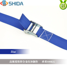 1pcs 5cm * 4Meters Metal Cargo Lashing Polypropylene Webbing Strap, Hold Ratchet Tie Down with Cam Buckle Winch Strap(China)