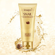 IMAGES Snail Essence Cleansing Gel Deep Clean Shrink Pores Hydrating Whitening Moisturizing 100g(China)