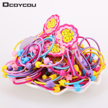 40 Pcs High Quality Carton Round Ball Kids Elastic Hair Bands Elastic Hair Tie Children Rubber Hair Band