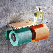Modern Senior 304 Stainless Steel Toilet Paper Holder Mobile Phone Holder Hotel Polished Chrome Roll Holder Bathroom Accessories(China)