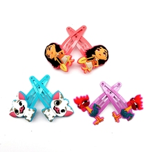 6pcs/ set Moana Princess Vaiana Toys Hair Clip for Girls High-quality Hairclips Baby Hairpins Action Figure Toy Birthday Gifts