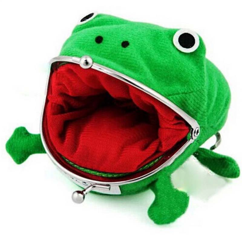 Coshome Naruto Bags Frog Wallet Mummy Bags Green Wallet Coin Purse Women Flannel Wallet (2)