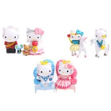 Mini 3Style Hallo Kitty Prince Princess Unicorn Super Cute PVC Action Figure Toys Classic Collection For Kids Gift(China)