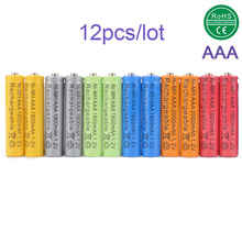 MIX 12x AAA batteries 1800mAh 3A 1.2 V Ni-MH Green 12 piece Rechargeable Battery Cell for MP3 RC Toys