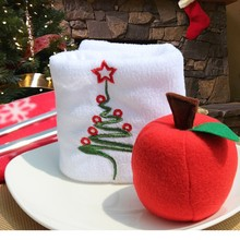 50pcs/lot foam Apple Tree Hanging Accessories Christmas Decoration Ornament Xmas Gift Artificial Fruit Model 40%off(China)