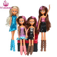 UCanaan Monster Doll 30CM Heigh Quality Doll Different Style Fashion Doll Toys birthday gift for barbie diy doll accessories(China)