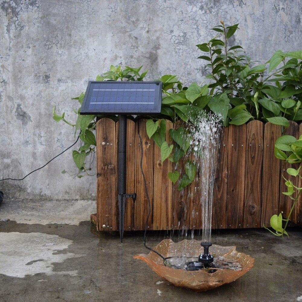 lh bomba de agua accionada solar del jardn fuente del estanque de la piscina