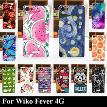 For Wiko Fever 4G Hard Plastic Mobile Phone Cover Case DIY Color Paitn Cellphone Bag Shell Free Shipping