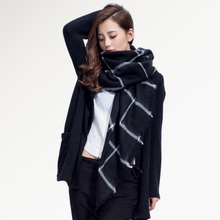 Top quality Winter Scarf Square Plaid Scarf  Designer Unisex Acrylic Basic Shawls Women's Scarves hot sale 004
