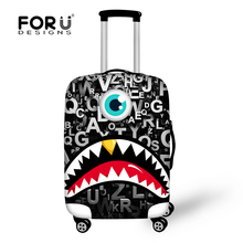 2017 Cute Luggage Protective Cover Monster 3D Printing Travel Luggage Cover for 18-30 Inch Suitcase Protective Cover Accessories