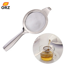 ORZ Tea Strainer Stainless Steel Mesh Coffee Tea Infuser Loose Leaf Green Yellow Fruit Flower Filter Spice Tea Accessories(China)