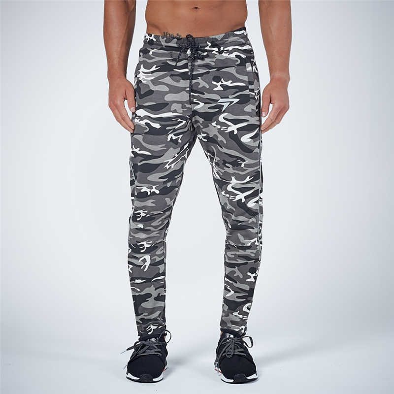 GYMOHYEAH NEW pants Men's High quality workout bodybuilding clothing casual camouflage sweatpants joggers pants skinny trousers 15