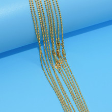 10pcs Wholesale  Gold Filled Necklace Fashion Jewelry Bead Ball Link Chain 2mm Necklace 16-30 Inches Pendant Chain