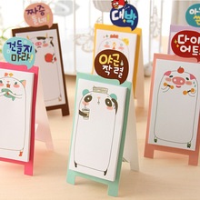 1pc Mini Decoration Bear Stent Note Paper Bookmarks Stickers Sticky Memo Notepad Stationery School Supplies Notebook #008(China)