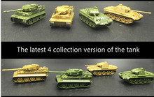 1PCS/Set 4D Sand Table Plastic Tiger Tanks World War II Germany Panther Tank 1:144 Scale Finished Model Toy