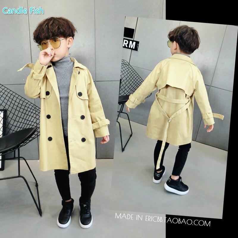 Boys coat autumn, 2017 new autumn, big child, childrens coat, baby windbreaker, long Korean style leisure<br>