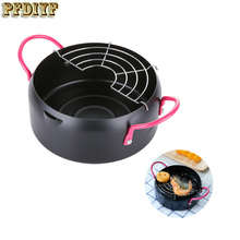 Creative Frying Pan Containing Filter Oil Cooker Fryer Home Frying Pot General Use For Gas and Induction Cooker Cooking Tools(China)