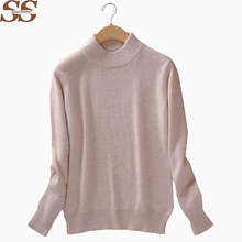 Women Knitted Sweater And Pullovers Ladies Tops High Quality Cashmere Sweater Pull Femme Christmas Sweater Solid Female Sweater(China)