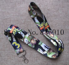 Hot Sale! 10 pcs Popular Cartoon Toy Story  Key Chains Mobile Cell Phone Lanyard Neck Straps    Favors P-100
