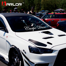 Fashion Carpe Diam Quality Vinyl White Reflective Car Auto Decal Front Rear Window Windshield Body Sticker Universal Car-Styling - Karlor Speciality Store store