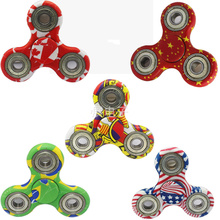 Buy 2017 Latest 5 Style Camoflage National Flag Hand Spinner Fun Fidget Toy EDC Tri Spinner Handspinner Carry Stress Wheel Toys for $3.14 in AliExpress store