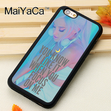 MaiYaCa Ariana Grande Focus Lyrics For iPhone 6 6S Coque 360 Full Protection Soft TPU Back Cover For iPhone 6/6s Phone Cases(China)