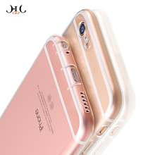HCCZ 2017 New for Apple iPhone 6s 6 7 Plus 5s 5 SE Premium TPU Silicone soft Phone case Transparent Non-slip With Dust plug