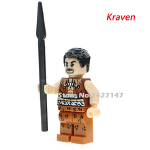 Single sale DC Marvel Kraven the Hunter Classic Comic Characters Sinister Six Building Block ChildrenToy